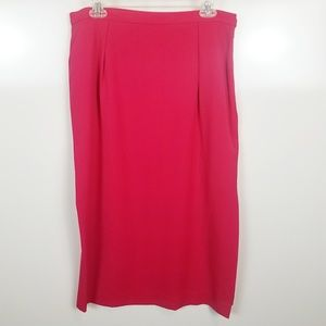Size 16 Jones New York Pencil Skirt Hot Pink